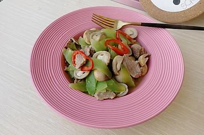 #花10分钟,做一道菜!#草菇莴苣炒肉片