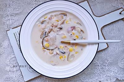 奶香蘑菇汤 又香又滑#麦子厨房美食锅#