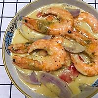 #一道菜表白豆果美食#芝士大虾的做法图解12