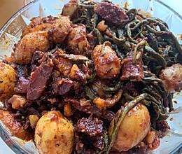 酱小土豆豇豆的做法