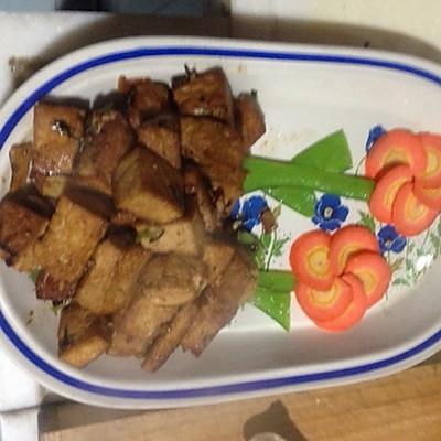 大喜大牛肉粉试用之干烧豆腐的做法 步骤4