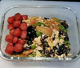 木耳番茄炒蛋—快手营养工作餐的做法