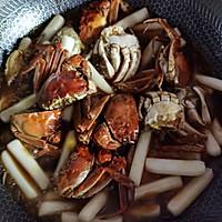 螃蟹炒年糕的做法图解7