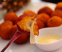 暖冬小吃——芝心地瓜丸的做法