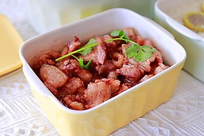 酸菜南乳五花肉+清炖萝卜牛腩+番薯蒸饭