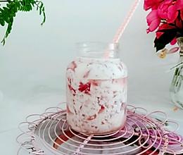 #夏日消暑,非它莫属#粉嘟嘟的桃子冻撞奶的做法