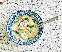 菠菜鸡肉汤年糕又香又浓的秘密的做法