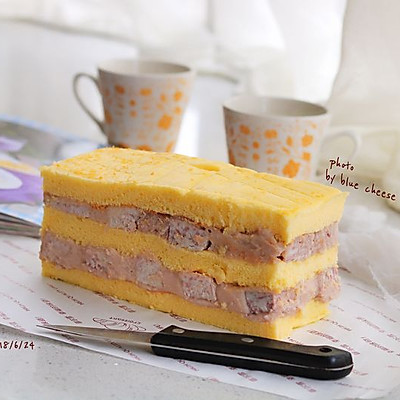 """网红香芋蛋糕#在""""家""""打造ins风美食"""