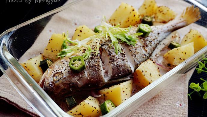 罗勒烤黄鱼