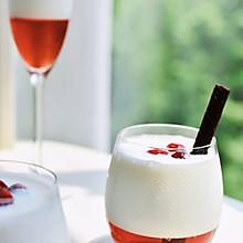 #轻饮蔓生活#蔓越莓思慕雪(内附自制酸奶的方子)