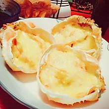 奶油芝士焗蟹斗