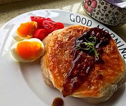 #换着花样吃早餐#手抓饼韭菜馅饼的做法