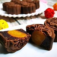 巧克力蛋黄月饼的做法图解21