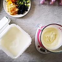 不打蛋没冰渣的酸奶水果冰激淋的做法图解5