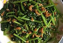 干虾仁烧菠菜的做法