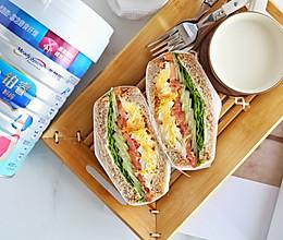 网红全麦蔬菜三明治的做法
