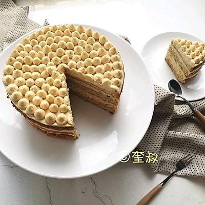 焦糖咸奶油咖啡风味蛋糕