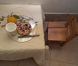 杏鲍菇火腿片紫绀菜披萨的做法