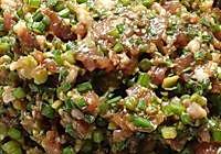 比韭菜馅更好吃的韭菜苔饺子馅的做法