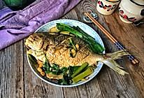 豆瓣酱焖鲳鱼的做法