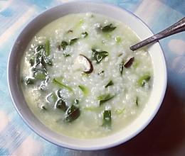 香菇菠菜粥的做法
