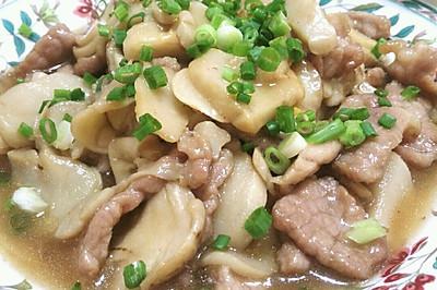 鲍汁蚝油杏鲍菇炒肉片