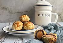 懒人自有妙计:红豆沙蛋黄酥 &紫薯肉松蛋黄酥(蛋挞皮版)的做法
