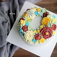 红牡丹裱花蛋糕#美的FUN烤箱.焙有FUN儿#