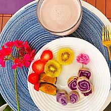 紫薯手卷,无添加,好吃又好看