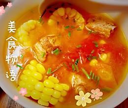 #助力高考营养餐#营养暖胃的番茄玉米胡萝卜排骨汤(电饭锅版)的做法