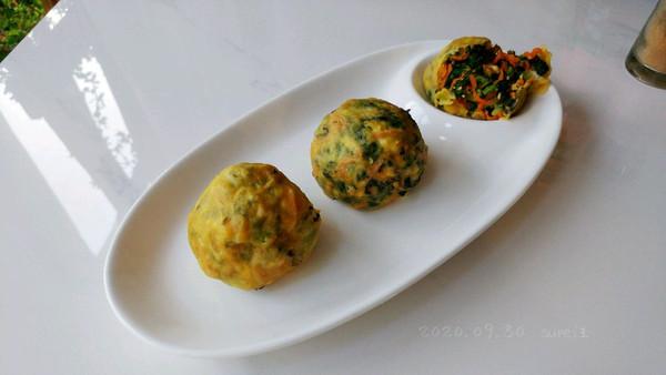 菇蛋蚝香小菜团的做法