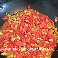 西红柿茄丁面 --- 有型有色快手面的做法图解4
