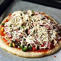 培根杂蔬披萨的做法图解12