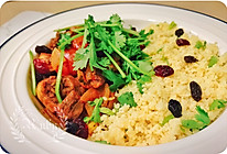 摩洛哥鸡肉盖浇couscous库斯库斯的做法