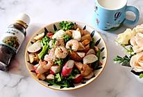 #321沙拉日#鸡肉虾仁蔬菜贝果沙拉的做法