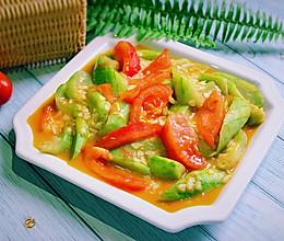 #一人一道拿手菜#番茄丝瓜的做法