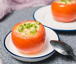 快手美味的宝宝辅食——金枪鱼番茄盅的做法