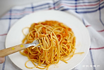 简易版快手番茄酱意大利面的做法