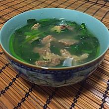 牛肉菠菜汤