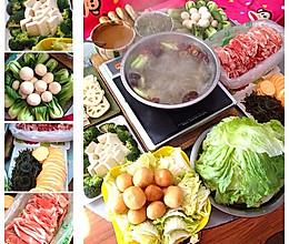 简单实惠的家庭版火锅宴【冬日暖心锅】的做法