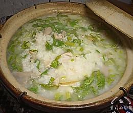 #换着花样吃早餐#猪肚薏米砂锅粥(附猪肚处理技巧)的做法