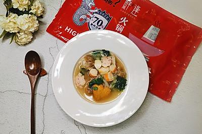 鱼+羊——鱼丸羊肉萝卜汤。