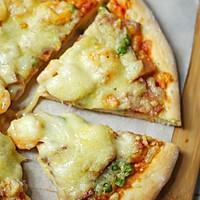 鲜虾香肠披萨