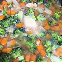 北海道芝士奶油蔬菜浓汤的做法图解3
