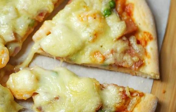 鲜虾香肠披萨的做法