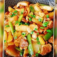 尖椒五花肉土豆煲