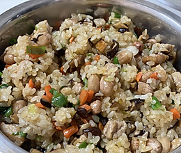 干饭人必备!香菇肉丁糯米饭的做法