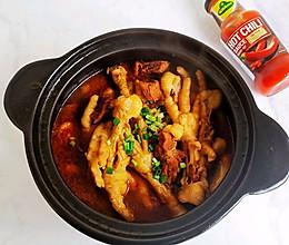 热气腾腾砂锅牛肉鸡爪煲的做法