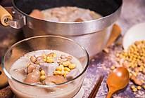 美容养颜花生黄豆蹄花汤的做法