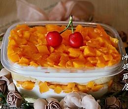 芒果奶油盒子蛋糕的做法